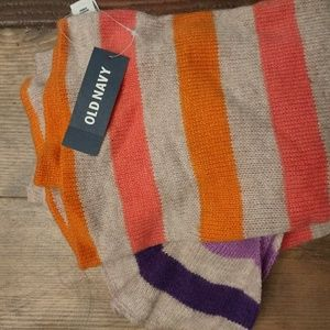 NWT ** Old Navy striped scarf.